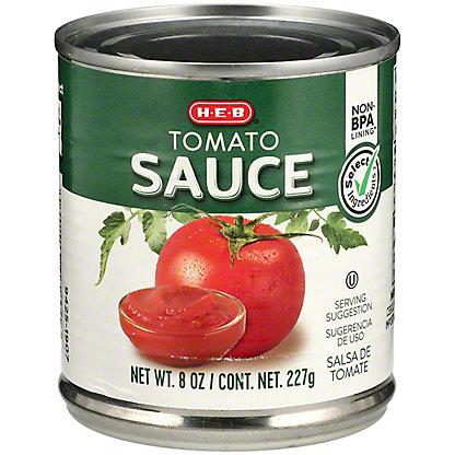 H-E-B Select Ingredients Tomato Sauce, 8 oz