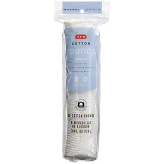 H-E-B Quilted Cotton Rounds, 80 ct