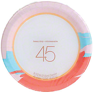 Seasonal 8.5 Inch  Heavy Duty Plates,45 ct