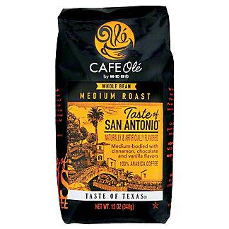 H-E-B Cafe Ole Whole Bean Taste of San Antonio Medium Roast Coffee,12 oz