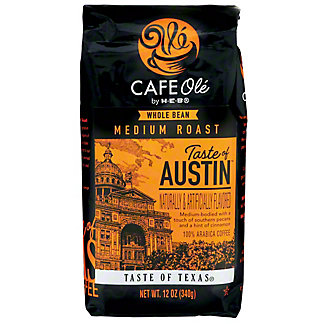 H-E-B Cafe Ole Whole Bean Taste of Austin Medium Roast Coffee,12 oz