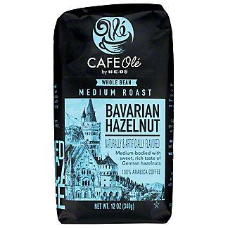 H-E-B Cafe Ole Whole Bean Bavarian Hazelnut Medium Roast Coffee,12 oz