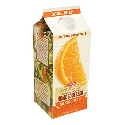 H-E-B Select Ingredients Home Squeezed Some Pulp Orange Juice, 59 oz