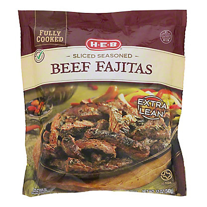 H-E-B Fully Cooked Sliced Seasoned Beef Fajitas,12 OZ