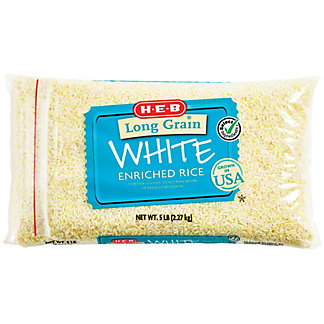 H-E-B Enriched Long Grain Rice,5 LBS
