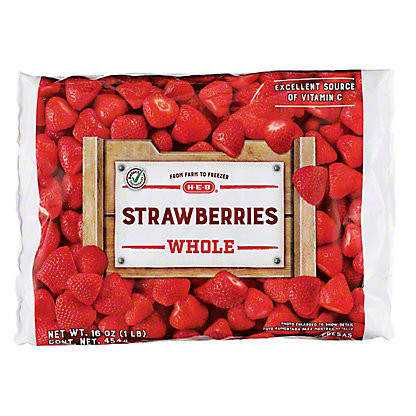H-E-B Whole Strawberries (No Sugar Added),16 oz