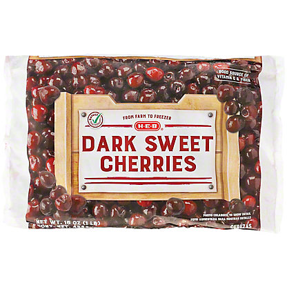 H-E-B Dark Sweet Cherries (No Sugar Added),16.00 oz