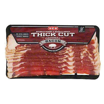 H-E-B Premium Thick Cut Smoked Bacon,12 oz