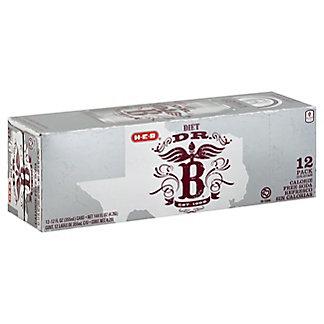 H-E-B Dr. B Diet Soda 12 oz Cans,12 pk
