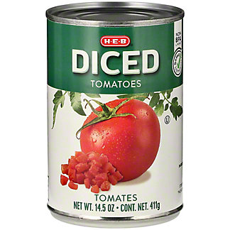 H-E-B Select Ingredients Diced Tomatoes, 14.5 oz