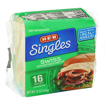 H-E-B Swiss Cheese Singles,16 CT