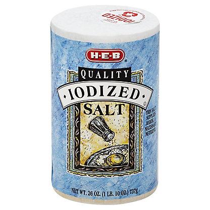 H-E-B Iodized Salt,26.00 oz