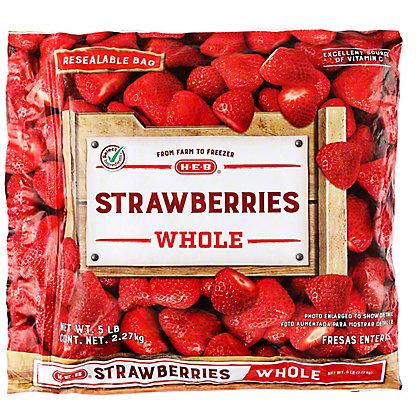 H-E-B Whole Strawberries (No Sugar Added),5 lbs