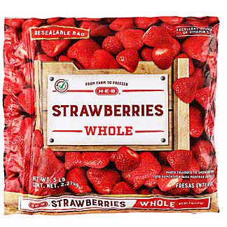 H-E-B Whole Strawberries (No Sugar Added),5 lbs
