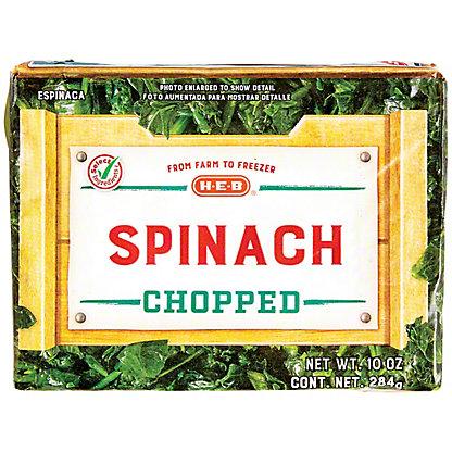 H-E-B H-E-B Chopped Spinach,10.00 oz