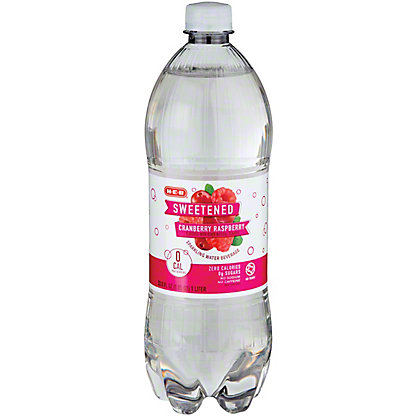 H-E-B Sparkling Cranberry Raspberry Water Beverage, 1 L