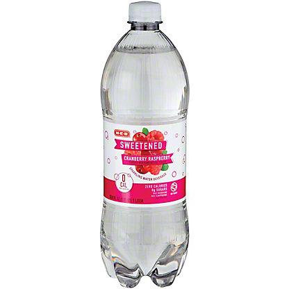 H-E-B Sparkling Cranberry Raspberry Water Beverage, 1 L