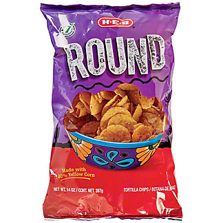 H-E-B Select Ingredients Round Yellow Corn Tortilla Chips, 14 oz