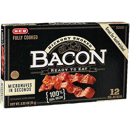 H-E-B Fully Cooked Bacon,2.1 OZ