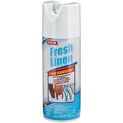 H-E-B Fresh Linen Disinfectant Spray, 12 oz