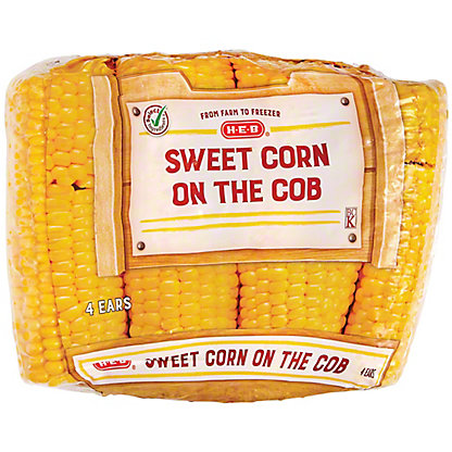 H-E-B Sweet Corn On the Cob,4 CT