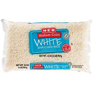 H-E-B Select Ingredients Medium Grain White Enriched Rice, 2 lb