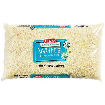 H-E-B Long Grain Enriched Rice,2 LBS