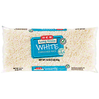 H-E-B Select Ingredients Long Grain Enriched White Rice, 16 oz