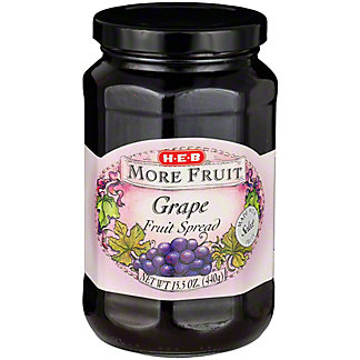H-E-B More Fruit Grape Fruit Spread,15.5 OZ