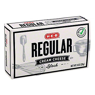 H-E-B Select Ingredients Regular Cream Cheese, 8 oz