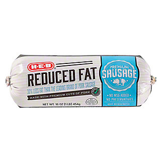 H-E-B Fresh Pork Light Sausage,16.00 oz
