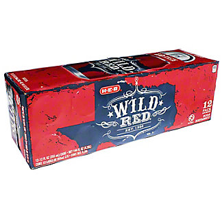 H-E-B Wild Red Soda 12 oz Cans, 12 pk