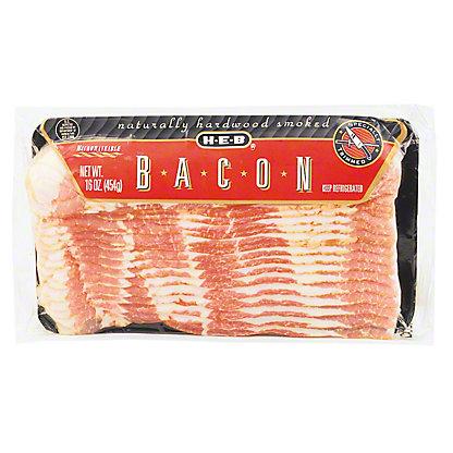 H-E-B Original Cut Mesquite and Hickory Smoked Bacon,12 OZ