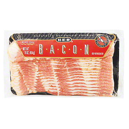 H-E-B Original Cut Mesquite and Hickory Smoked Bacon,12 OZ