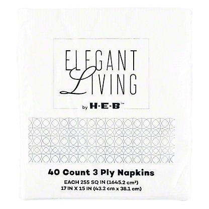 H-E-B White Dinner Napkins,40 CT