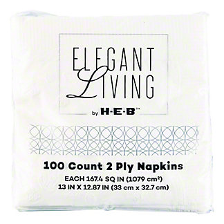 H-E-B White Lunch Napkins,100 CT
