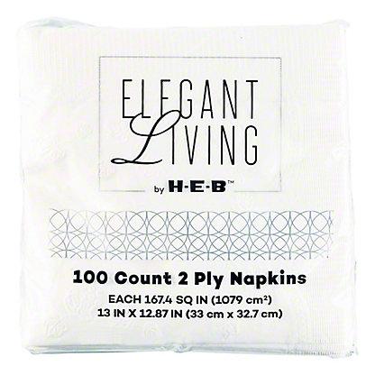 H-E-B White Lunch Napkins,100 CT