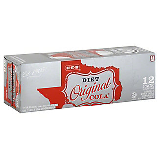 H-E-B Diet Original Cola,12 - 12oz Cans