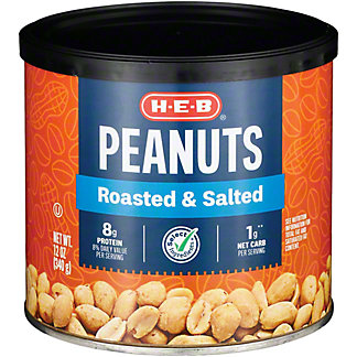 H-E-B Select Ingredients Roasted and Salted Peanuts, 12 oz