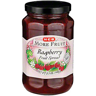 H-E-B More Fruit Raspberry Fruit Spread,15.5 OZ