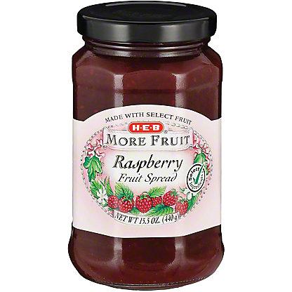 H-E-B More Fruit Raspberry Fruit Spread,15.5 OZ
