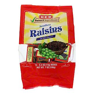 H-E-B Select Ingredients California Sweet Raisins Mini Boxes,14 CT