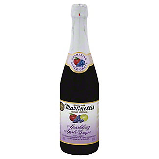 Martinellis Gold Medal 100% Juice, Sparkling, Apple-Grape, 25.4 oz