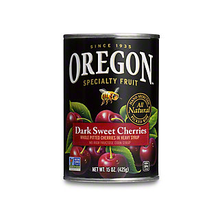 Oregon Dark Sweet Pitted Cherries In Heavy Syrup,15 oz