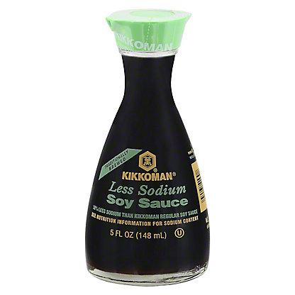 Kikkoman Less Sodium Soy Sauce, 5 oz