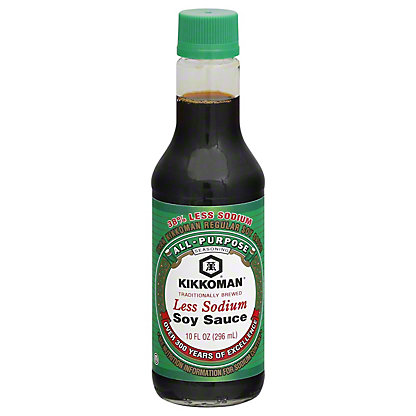 Kikkoman Less Sodium Soy Sauce, 10 oz