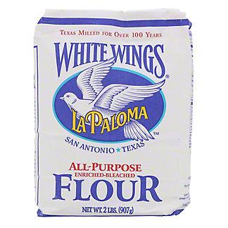 La Paloma White Wings Enriched Bleached All Purpose Flour, 2 lb