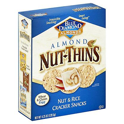 Blue Diamond Nut-Thins Almond Nut and Rice Cracker Snacks, 4.25 oz