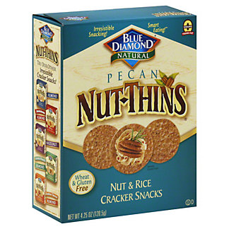 Blue Diamond Nut-Thins Pecan Nut and Rice Cracker Snacks, 4.25 oz