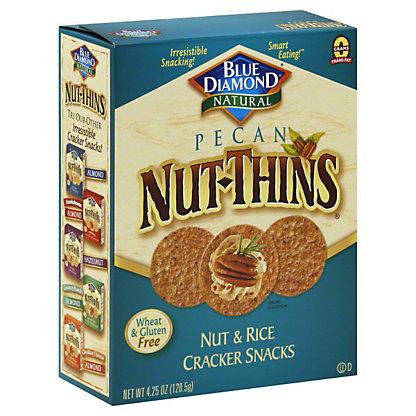 Blue Diamond Nut-Thins Pecan Nut and Rice Cracker Snacks, 4.25 oz